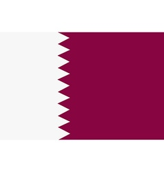 Flag of Qatar vector image vector image
