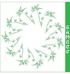 bamboo circular frame vector image