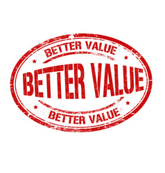 better value sign or stamp vector image