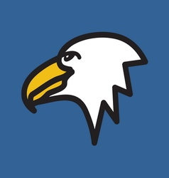 Eagle simple icon vector image vector image
