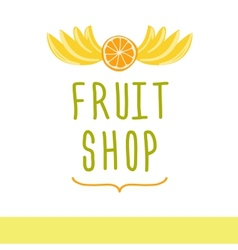 Fruit shop editable template logo or signage vector