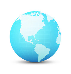 globe in blue color vector image