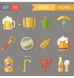 Retro Beer Alcohol Symbols vector image vector image