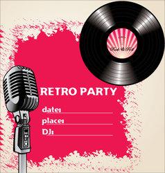 retro party - background vector image vector image