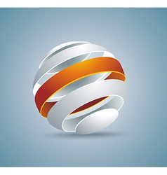 Abstract globe symbol internet and social network vector image vector image