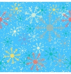 Christmas seamless background with snowflakes vector image vector image