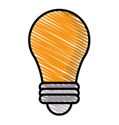 drawing bulb idea light creative vector image vector image