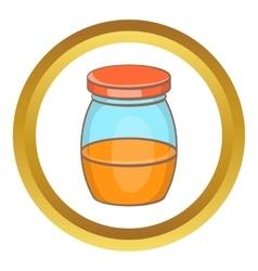 Honey jar icon vector image vector image