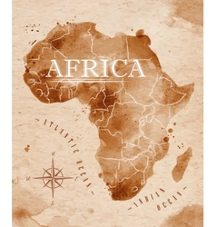 Map Africa retro vector image vector image