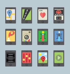 Mobile and tablet apps vector image