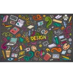 set of design theme items vector image vector image