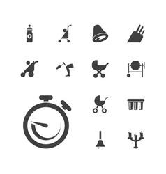 13 metallic icons vector