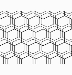 abstract geometric pattern with hexagons vector image