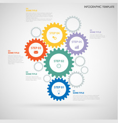 Abstract info graphic with design colored flat vector