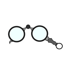 abstract old glasses vector image