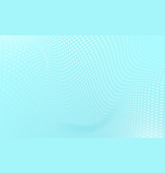 abstract white halftone pattern wavy on soft blue vector image