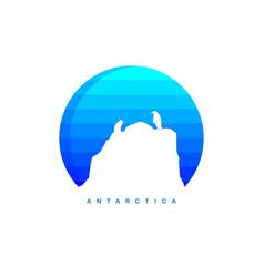 Antarctica theme ice berg logo template vector