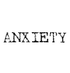 Anxiety black stamp vector