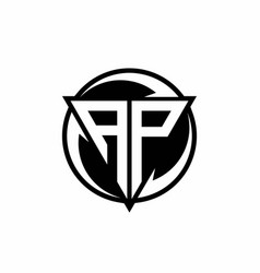 Ap logo monogram design template vector