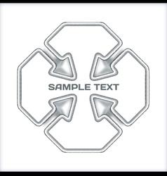Arrows concept template vector image