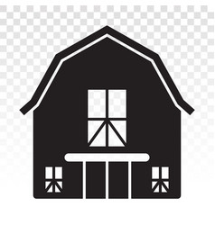 Barn or farm house flat icon for apps or websites vector