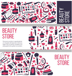 beauty store selling makeup and cosmetics vector image