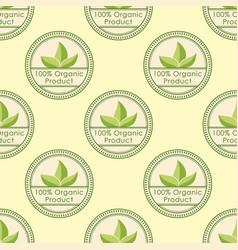 bio farm organic eco healthy food seamless pattern vector image