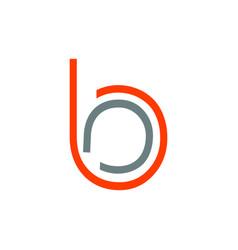 Bo bc ba bb initials line art geometric company vector
