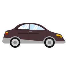 Car sedan vehicle transport vector