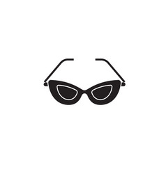 cat eye glasses black concept icon cat eye vector image