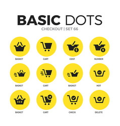 Checkout flat icons set vector