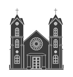 church silhouette christianity architecture house vector image