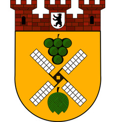 Coat of arms of prenzlauer berg in berlin germany vector