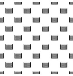 Concrete fence pattern seamless vector