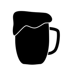 cup beer vector image