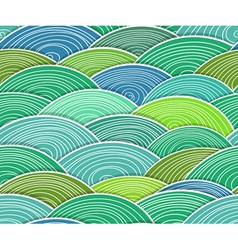 Curled abstract green waves vector