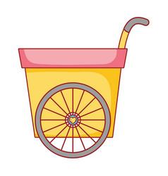 cute wheelbarrow isolated icon vector image