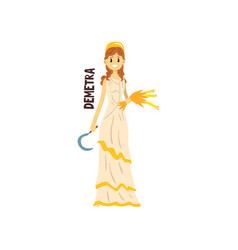 demetra olympian greek goddess ancient greece vector image
