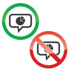Diagram message permission signs vector image