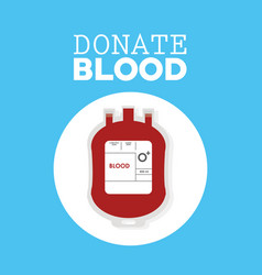 donate blood plastic bag vector image