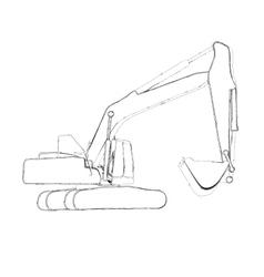 Excavator work vector