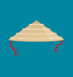flat china hat icon vector image