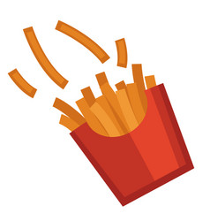 french fries in package potato sticks fast food vector image