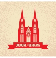 german city cologne travel symbol vector image