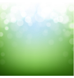 green nature background with bokeh vector image