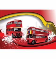 grunge London background vector image vector image