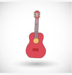 Guitar icon with round shadow vector