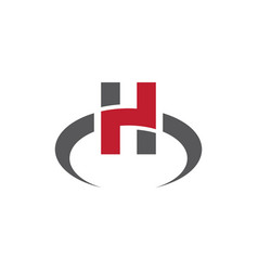 h letter icon design vector image