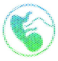 Halftone blue-green prenatal icon vector