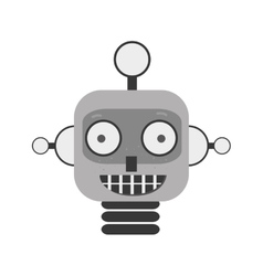 Happy robot toy vector